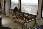 Ligfiets in Stadler GTW / recumbent bicycle in train